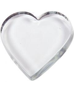 Herz, Größe 9x9 cm, Stärke: 15 mm, 1 Stck.