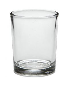 Teelichtglas, H: 6,5 cm, D: 4,5-5,5 cm, 120 ml, 12 Stck./ 1 Box