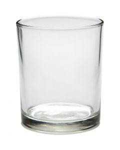 Teelichtglas, H: 8,4 cm, D: 7 cm, 240 ml, 12 Stck./ 1 Box