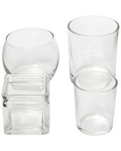 Teelichthalter, H: 5,3-9,2 cm, D: 4,5-7,3 cm, Inhalt kann variieren , 72 Stck./ 1 Box