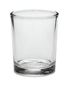 Teelichtglas, H: 6,5 cm, D: 4,5 cm, 4 Stck./ 1 Pck.