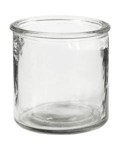 Kerzenglas, H: 7,8 cm, 6 Stck./ 1 Box