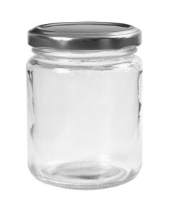 Aufbewahrungsglas, H: 9,1 cm, D: 6,8 cm, 240 ml, Transparent, 12 Stck./ 1 Box