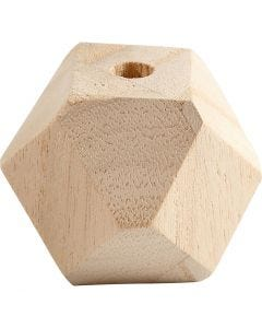 Bead in Diamantform, B: 43 mm, Lochgröße 8 mm, 3 Stck./ 1 Pck.