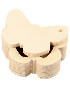 Holzdose, H: 4 cm, B: 10 cm, 1 Stck.
