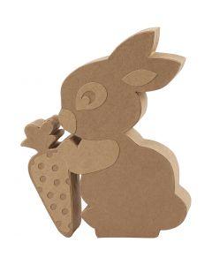 Kaninchen, H: 18 cm, Tiefe 2,5 cm, 1 Stck.