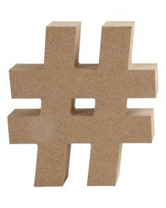 Nummern-Symbol, # , H: 13 cm, Stärke: 2 cm, 1 Stck.