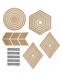 Wanddeko, H: 5,5-29,5 cm, Inhalt kann variieren , 10 Set/ 1 Pck.