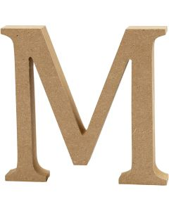 Buchstabe, M, H: 8 cm, Dicke 1,5 cm, 1 Stck.