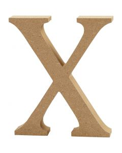 Buchstabe, X, H: 8 cm, Dicke 1,5 cm, 1 Stck.