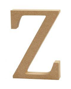 Buchstabe, Z, H: 8 cm, Dicke 1,5 cm, 1 Stck.