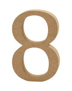 Zahl, 8, Dicke 1,5 cm, 1 Stck.