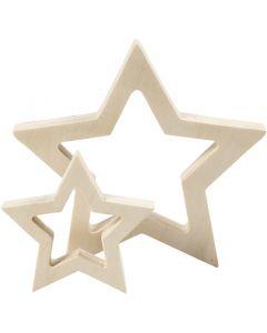 Sterne, D: 9+16 cm, Stärke: 20 mm, 2 Stck./ 1 Pck.
