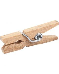 Holzklammer, L: 25 mm, B: 3 mm, 30 Stck./ 1 Pck.