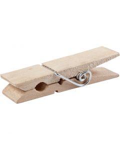 Holzklammer, L: 7,2 cm, B: 2 cm, 10 Stck./ 1 Pck.