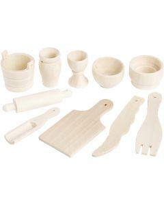 Küchenutensilien, L: 40-60 mm, 10 Stck./ 1 Pck.