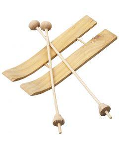 Ski mit Stöcken, Größe 11x3,8 cm, 3 Paar/ 1 Pck.