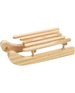 Holzschlitten, Größe 6,5x2,5 cm, 2 Stck./ 1 Pck.