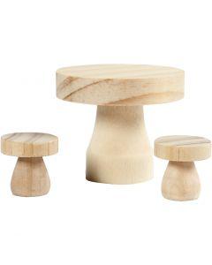 Möbelset, Größe 2,5x2,5 cm, 1 Set
