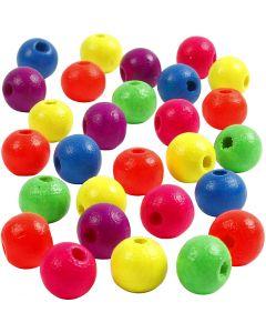 Perlen-Mix in Neonfarben, D: 8 mm, Lochgröße 2,5 mm, 50 g/ 1 Pck.