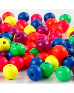 Perlen-Mix in Neonfarben, D: 8 mm, Lochgröße 2,5 mm, Neonmix, 12 g/ 1 Pck.