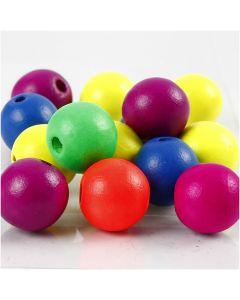 Perlen-Mix in Neonfarben, D: 16 mm, Lochgröße 3 mm, 500 g/ 1 Pck.