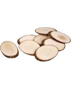 Holzscheiben, Stärke: 8 mm, Inhalt kann variieren , 12 Stck./ 1 Pck.