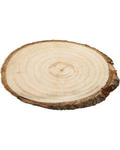 Holzscheiben, Größe 9,5x6 cm, Stärke: 6 mm, 12 Stck./ 1 Pck.