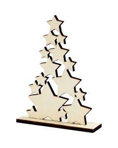 Weihnachtsbaum, H: 19,6 cm, Tiefe 4 cm, B: 14,7 cm, 1 Stck.