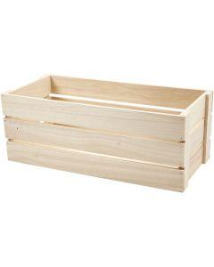 Holz-Box, H: 17 cm, Größe 45x20 cm, 1 Stck.
