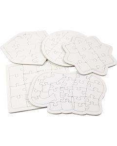 Puzzles, Größe 17-21 cm, Weiß, 10 Stck./ 1 Pck.