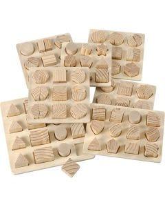 Puzzles, Größe 12,5x12,5-19,5x19,5 cm, 7 Stck./ 1 Pck.