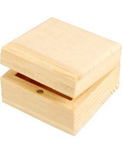 Schmuckkasten, Größe 6x6x3,5 cm, 1 Stck.