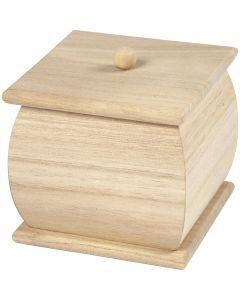 Holzbox mit Deckel, Mini, Größe 7,5x7,5x8 cm, 1 Stck.