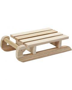 Holzschlitten, H: 5 cm, L: 19,5 cm, B: 10 cm, 1 Stck.