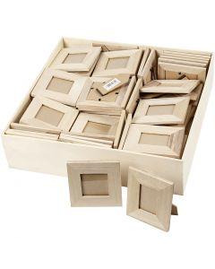 Aufstellrahmen aus Holz, Größe 10x10+9x11 cm, 80 Stck./ 1 Pck.