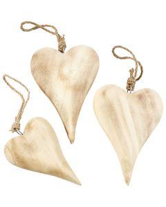 Herzen, H: 9,5+15 cm, Inhalt kann variieren , 6 Stck./ 1 Pck.