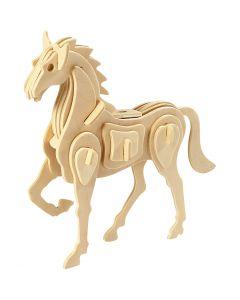 3D-Holzpuzzle, Pferd, Größe 18x4,5x16 cm, 1 Stck.