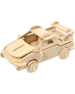 3D-Holzpuzzle, Auto, Größe 13x9x6 cm, 1 Stck.