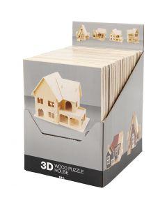 3D-Holzpuzzle, 24 Stck./ 1 Pck.
