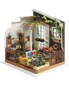 DIY-Miniatur-Zimmer, H: 21 cm, B: 19,5 cm, 1 Stck.