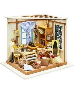 DIY-Miniatur-Zimmer, H: 19 cm, B: 22,5 cm, 1 Stck.