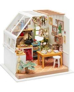 DIY-Miniatur-Zimmer, H: 18,7 cm, B: 19 cm, 1 Stck.