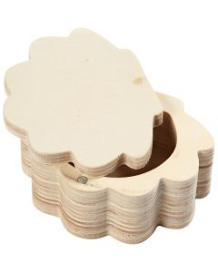 Holzdose, H: 4 cm, B: 8 cm, 1 Stck.