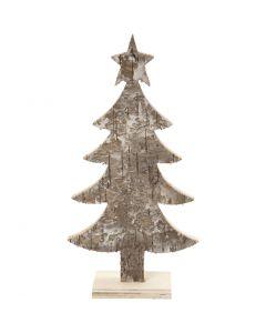 Holz-Weihnachtsbaum, H: 18 cm, B: 9 cm, 1 Stck.