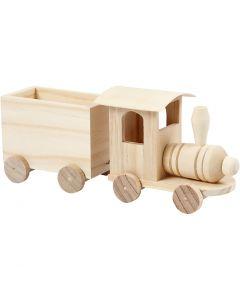 Spielzeug-Zug mit Anhänger, H: 9,5 cm, L: 21,5 cm, B: 6,5 cm, 1 Stck.