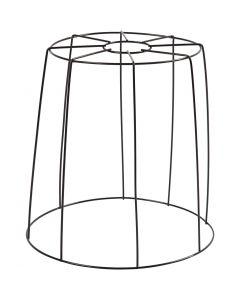 Lampenschirm-Gestell, H: 20 cm, D: 15,5-20 cm, Schwarz, 1 Stck.