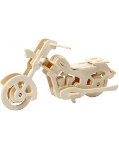 3D-Figuren zum Zusammensetzen, motorrad, Größe 19x9x9 cm, 1 Stck.