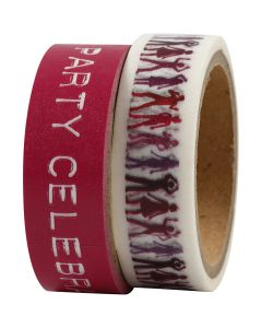 Klebeband, B: 15 mm, Pink, 2x5 m/ 1 Pck.