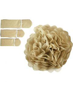 Seidenpapier-Pompons, D: 20+24+30 cm, 16 g, Gold, 3 Stck./ 1 Pck.